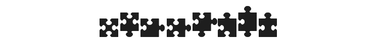 Jigsaw Pieces Font Preview
