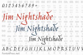 Jim Nightshade Font