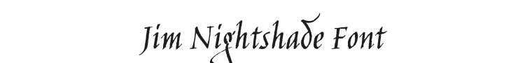 Jim Nightshade Font Preview