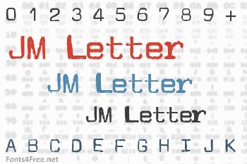JM Letter Font