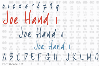 Joe Hand 1 Font