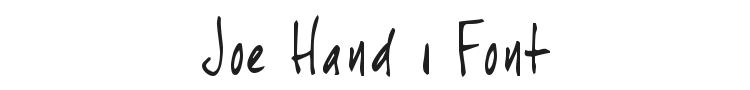 Joe Hand 1 Font Preview