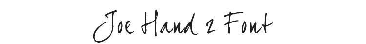 Joe Hand 2 Font