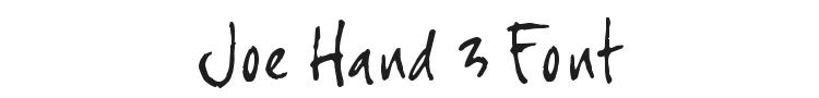 Joe Hand 3 Font Preview