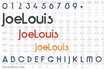 JoeLouis Font