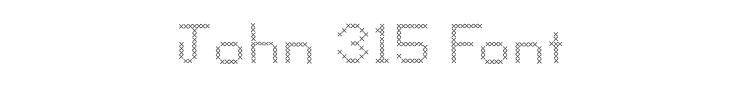 John 315 Font Preview