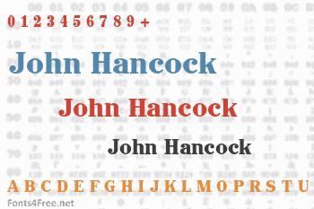 John Hancock Font