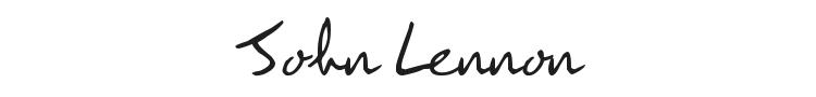 John Lennon Font Preview