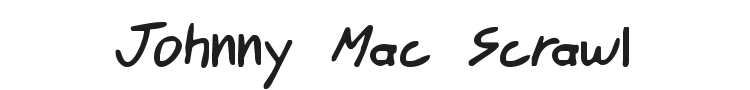 Johnny Mac Scrawl Font Preview