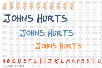 Johns 1000 Hurts Font