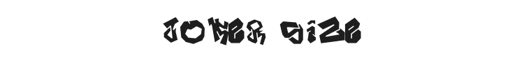 Joker Size Font Preview