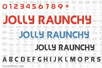 Jolly Raunchy Font