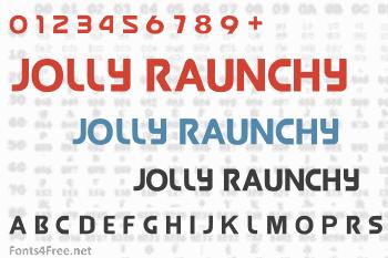 Jolly Raunchy Font