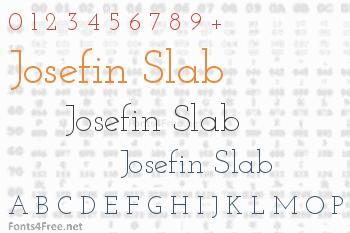 Josefin Slab Font