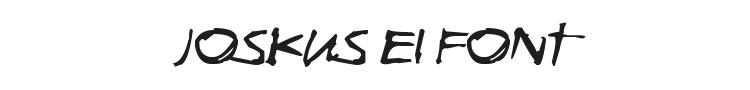 Joskus Ei Font Preview