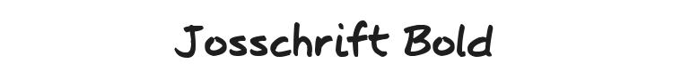 Josschrift Bold Font Preview