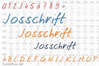 Josschrift Font