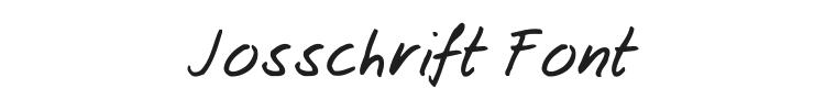 Josschrift Font Preview
