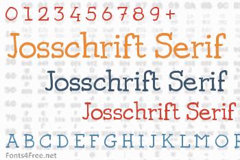 Josschrift Serif Font