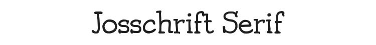 Josschrift Serif Font Preview