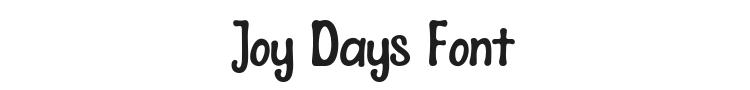 Joy Days Font Preview