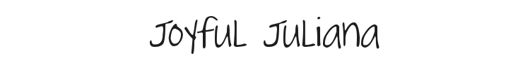 Joyful Juliana Font Preview
