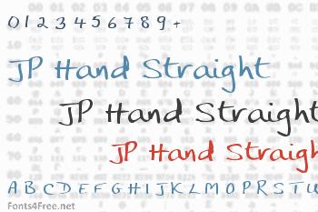 JP Hand Straight Font