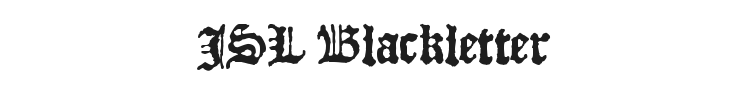 JSL Blackletter