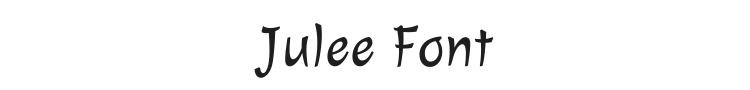 Julee Font Preview