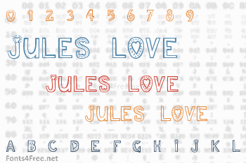 Jules Love Font