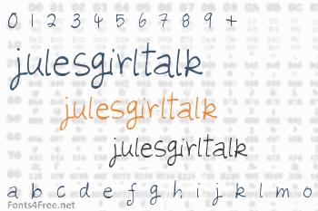 Julesgirltalk Font