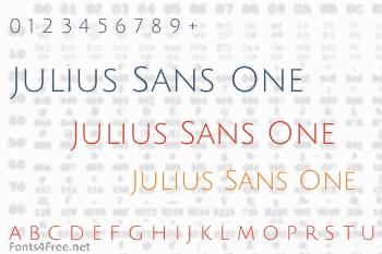 Julius Sans One Font