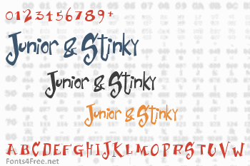 Junior & Stinky Font