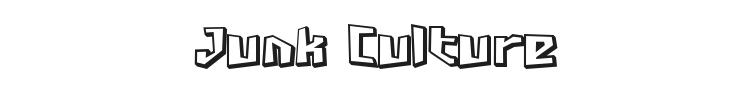 Junk Culture Font Preview