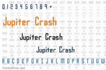 Jupiter Crash Font