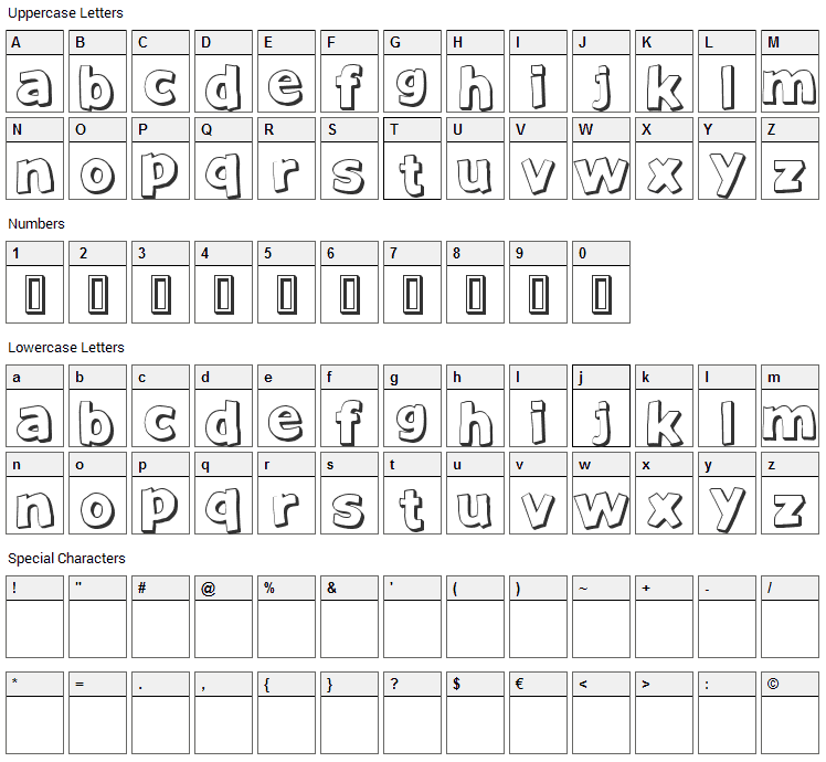 Just Another Font Character Map