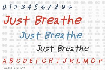Just Breathe Font