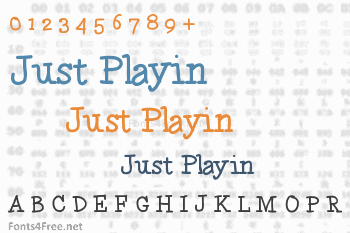 Just Playin Font