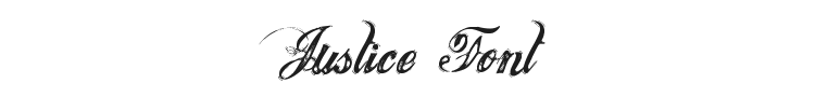 Justice Font Preview