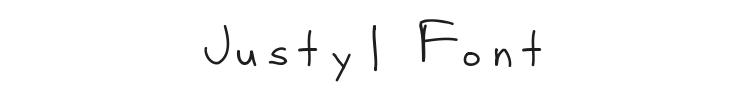 Justy1 Font