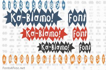 Ka-Blamo! Font