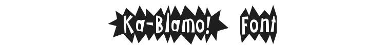 Ka-Blamo! Font Preview