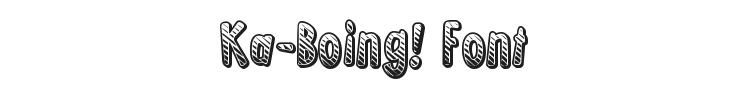 Ka-Boing! Font Preview