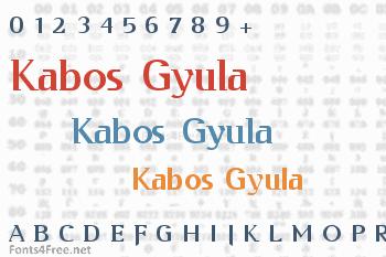 Kabos Gyula Font