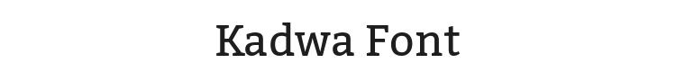Kadwa Font Preview