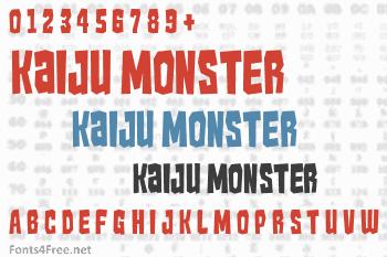 Kaiju Monster Font