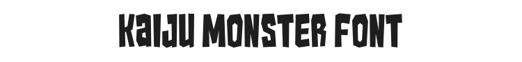Kaiju Monster Font Preview