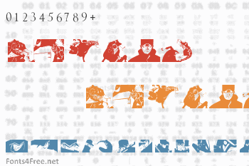 Kaku Dingbats One Piece Art One Piece Area Font