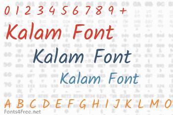 Kalam Font