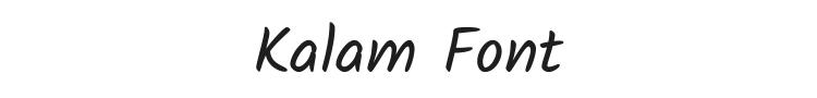 Kalam Font Preview